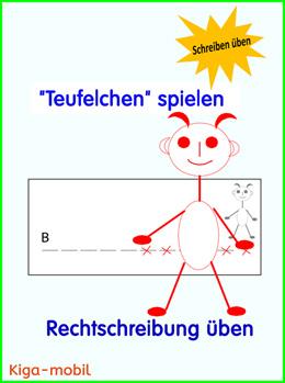 Teufelchen - Ein Lernspiel für deutsch in der Grundschule ab der 1. Klasse - Rechtschreibung üben