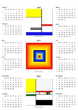 Tischkalender 2021 von KiGa-mobil - Kalender 2021 zum aufstellen auf den Schreibtisch